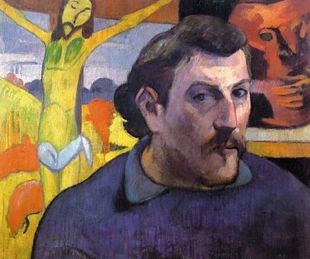 Поль Гоген «Автопортрет с желтым Христом» (1890 г.)