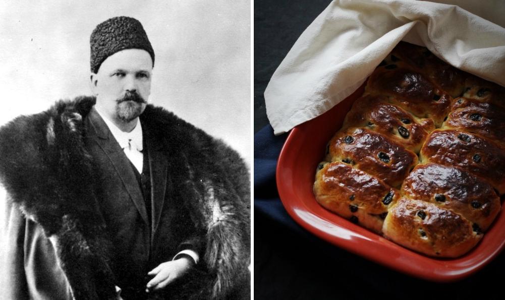Сайки с изюмом Гиляровский Москва и москвичи рецепт