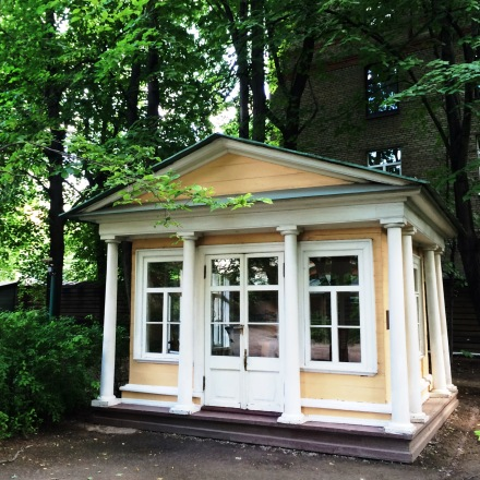 Беседка сад усадьба музей Хамовники Лев Толстой