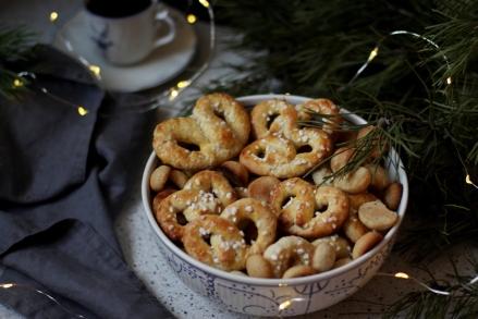 Снежная королева печенье крендельки датская выпечка рождество