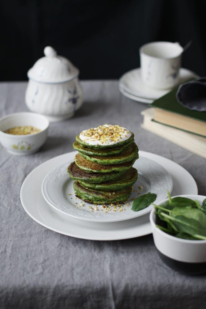 Панкейки Шпинат Зеленые Масленица Изгои Хинтон рецепт